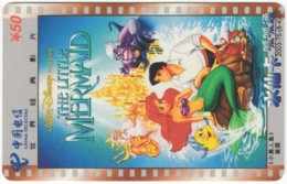 CHINA D-814 Prepaid ChinaTelecom - Cinema, Walt Disney, The Little Mermaid - Used - China