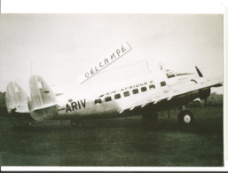 PHOTO AVION LOCKHEED L10 ELECTRA  AIR AFRIQUE F-ARIV     RETIRAGE  10X15CM - 1939-1945: 2a Guerra