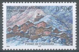 Andorra (French Adm.), Fontaneda, Village In Andorra, 2004, MNH VF  597 - French Andorra