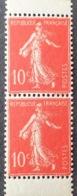 R1189/46 - 1906 - TYPE SEMEUSE - N°135d ☛ Paire Verticale De Carnet TIMBRES NEUFS**- Cote : 90,00 € - France