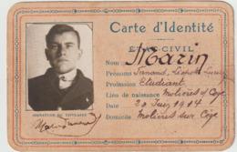 Gard Molières Sur Cèze Carte D'identité 1932 - Historische Documenten