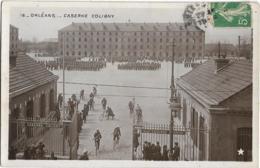 D45 - ORLEANS - CASERNE COLIGNY - (Marque ETOILE) - Nombreux Militaires - Carte Photo Glacée Petit Format  Noir Et Blanc - Orleans