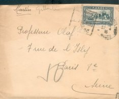 MAROC MOROCCO LETTRE 1935 DAGUIN CONSOMMEZ LES FRUITS ET PRIMEURS DU MAROC B/TB + VIGNETTE AU VERSO - Lettres & Documents
