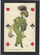 CPA Jeu De Cartes Carte à Jouer Playing Cards Non Circulé Giris Girl Woman - Cartes à Jouer