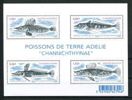 TAAF 2015  N° F732 ( 732/735 ) ** Neufs MNH Superbes Faune Poissons Terre Adélie Fishes Animaux - Unused Stamps