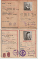Cartes D'identité : Le Père ETAT Français, La Fille REPUBLIQUE Française 1944 - Historische Dokumente