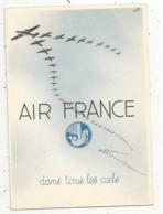 Cp, Aviation, AIR FRANCE , Dans Tous Les Ciels , 2 Scans - Aviation