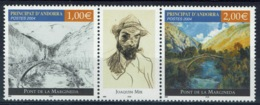 Andorra (French Adm.), Joachin Mir Trinxet, Spanish Painter, 2004, MNH VF a Triptych  599-600 - French Andorra