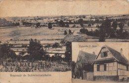 A-19-4874 : SOUVENIR DE SCHWINDRATZHEIM. EPICERIE J. METZ.  (voir état) - Frankrijk