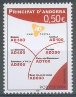 Andorra (French Adm.), Postal Code , 2004, MNH VF  601 - French Andorra