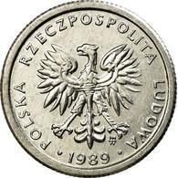 Monnaie, Pologne, Zloty, 1989, Warsaw, SUP, Aluminium, KM:49.3 - Pologne