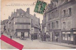 23-GUERET- Place De La Préfecture-Entrée De La Grande Rue-Commerces-Chantoiseau-Lacrocq-Brunet-Ducros-1917- - Guéret