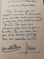 Carte De Vœux De Bernadette Et Président Chirac 2004 - Vieux Papiers