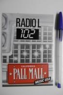 "Autocollant Stickers Médias RADIO L 102 CALIFORNIA ""PALL MALL"" MUSIC USA - Autocollants"