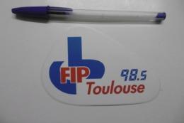 Autocollant Stickers Médias RADIO FIP TOULOUSE 98.5 - Pegatinas