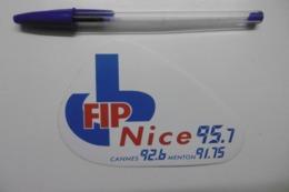 Autocollant Stickers Médias RADIO FIP NICE 95.7 CANNES 92.6 MENTON 91.75 - Pegatinas