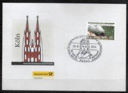 ALLEMAGNE   Lettre  2014 Haldensleben Suttner Nobel De La Paix Trains - Premio Nobel