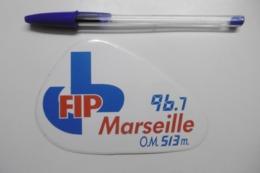 Autocollant Stickers Médias RADIO FIP MARSEILLE 96.7 Radio OLYMPIQUE DE MARSEILLE O.M. 513 M. - Pegatinas