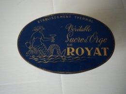 Boite Publicitaire Sucre D Orge Sirene Auvergne Royat - Boxes