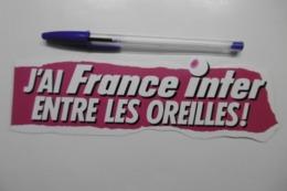 Autocollant Stickers Médias RADIO FRANCE INTER Entre Les Oreilles ! - Stickers