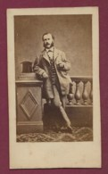021019A - PHOTO CDV Généalogie CHARLES ESCOFFIER Employé Forges Et Chantiers Décédé En 1864 - Identified Persons