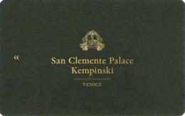 ITALIA KEY HOTEL     Kempinski San Clemente Palace - Hotel Keycards