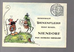 Köln-Deutz  > Honighaus Bienenfleiss Hans Kogel Hamburg-Nendorf Blüten-Schleuderhonig (676d) - Briefe U. Dokumente