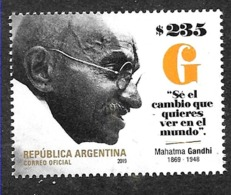 ARGENTINA 2019 INDIA MAHATMA GANDHI 150° ANIVERSARY NEUF,MNH,POSTFRISCH - Argentinië