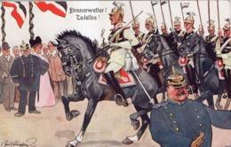 ILLUSTRATEUR FRITZ SCHOENPFLUG  ARMEE ALLEMANDE DONNERWETTER ! TADELLOS ! - Guerra 1914-18