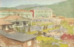 Japan, MIYANOSHITA, Hakone, Fujiya Hotel (1910s) Hand Painted Postcard - Japan