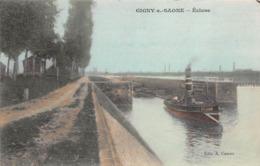 71 - Gigny Sur-Saône - Passage D'une Péniche Dans Une Ecluse - Frankrijk