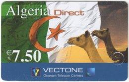 FRANCE C-533 Prepaid Vectone - Flag Of Algeria, Animal, Camel - Used - Nachladekarten (Refill)