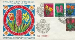 Luxembourg   FDC    1.4.1955  Mondorf-les-Bains Floralies  1955 - FDC