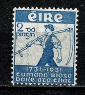 Eire 1931 Yv 59*, Mi 56*, SG 93*, Sc 84* MH (2 Scans) - Nuovi