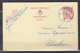 Postkaart Van Tournai L1L Naar Charleroi - 1935-1949 Petit Sceau De L'Etat