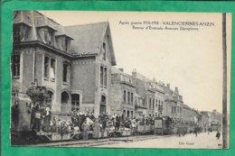 Valenciennes-Anzin (59) Après Guerre 1914-1918 Retour D'Evacués Avenue Dampierre 2scans - Valenciennes