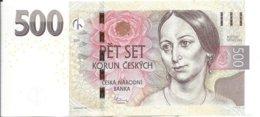 Czech Republic 500 Kc Banknote 2009 - Tchéquie