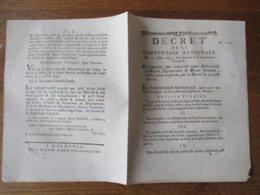 DECRET DE LA CONVENTION NATIONALE DU 17 JUILLET 1793 QUI SUPPRIME TOUTES REDEVANCES SEIGNEURIALES & DROITS FEODAUX SANS - Décrets & Lois