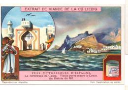 """S1174 - CHROMO LIEBIG - 1913 -  """" VUES PITTORESQUES D'ESPAGNE """" : FORTERESSE DE CEUTA - Liebig"""