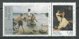 Finlande YT N°1257A Tableaux De Albert Edelfelt (Timbres Se-tenant) Oblitéré ° - Finland