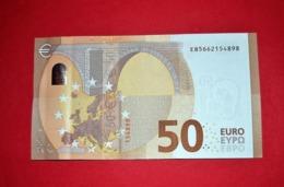 50 EURO FRANCE - OBERTHUR - E010 E3 - EB5662154898 - UNC DRAGHI - EURO