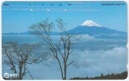 JAPAN D-915 Magnetic NTT [291-301] - Landmark, Volcano, Fujiyama - Used - Japan
