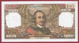 "100 Francs ""Corneille"" Du 03/04/1969.Q ---F/TTB+---ALPH -U.408 - 1962-1997 ''Francs''"