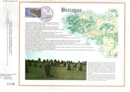 DOCUMENT FDC 1977 REGION BRETAGNE - FDC