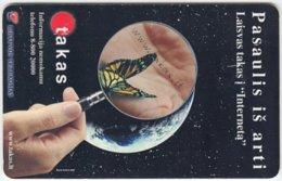 LITUHANIA A-234 Chip Telekomas - Animal, Butterfly, Universum, Earth - Used - Litauen