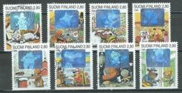 Finlande YT N°1242/1249 Saint-Valentin (hologrammes) Oblitéré ° - Finland