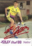 CARTE CYCLISME FAUSTO DOTTI SUGNEE TEAM JOLLY 1993 - Cyclisme