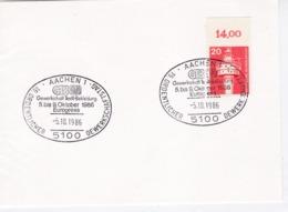 Deutsche Bundespost Mi: 848 Leuchtturm. K Stempel: AACHEN 1, GTB Gewerkschaft Textil- Bekleidung 5-9.10.86 Eurogress - [7] République Fédérale