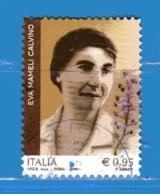 Italia °- 2018 -  EVA MAMELI CALVINO,  Usato- - 6. 1946-.. República