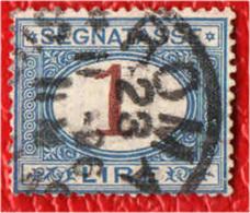 ITALIA REGNO - 1894 - CIFRE AL CENTRO - 1 LIRA - USATO - 1878-00 Humbert I.